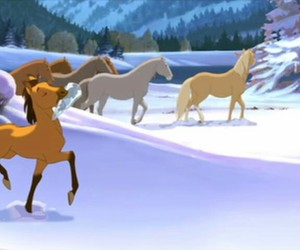 dreamworks, winter, and horse image