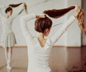 girl, hair, and ballet image