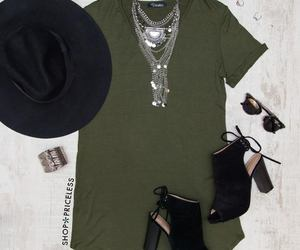 boots, necklace, and dress image