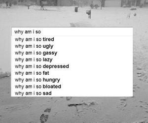sad, depressed, and fat image