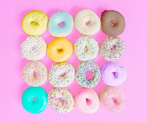 colorful, donuts, and background image