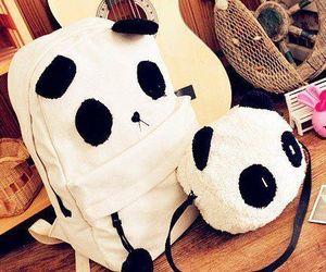 panda, cute, and bag image