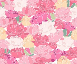 background, pattern, and flowers image