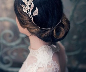 hair, wedding, and beautiful image