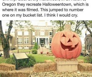 Halloween, bucket list, and halloween town image