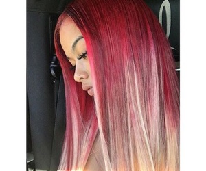 dye, hairstyle, and red image