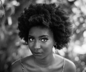 beauty, dark skin, and afro hair image
