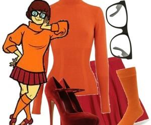 orange, velma, and scooby-doo image