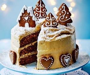 cake, christmas, and christmas cake image