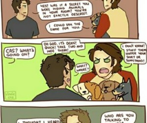 dean winchester, fanart, and funny image