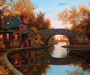 autumn, paintings, and charls wilbert white image