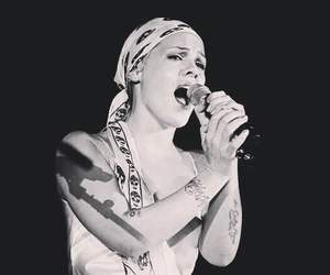 black and white, concert, and live image