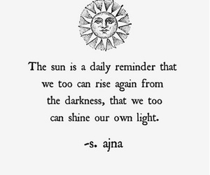 quote, sun, and words image