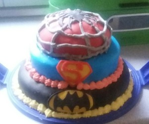 cake, superhero, and food image