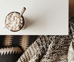 winter, hot chocolate, and marshmallows image