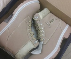 beige, boots, and Fila image