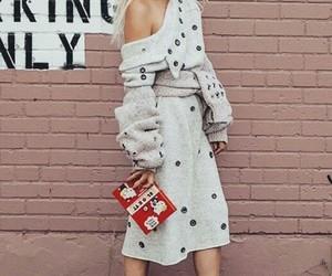 dress, chucks, and knit wear image
