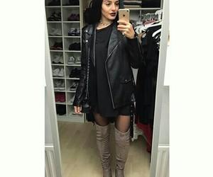 black clothes, girl, and Zara image