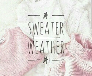 pink, sweater, and weather image