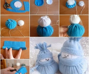 diy, snowman, and tutorial image