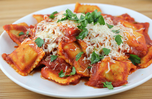 food and ravioli image