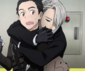 anime, guys, and hugs image
