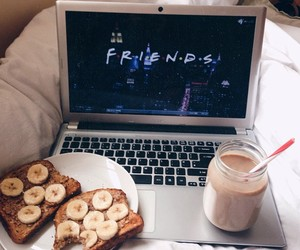 friends, food, and banana image