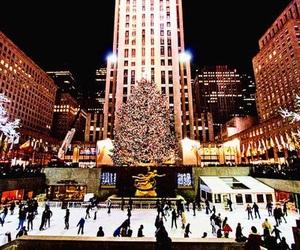 christmas, new york, and winter image