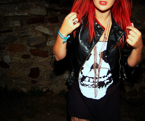 girl, red hair, and red image