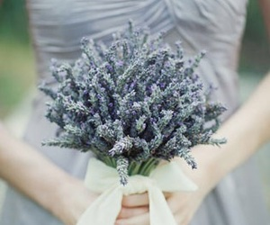 lavender, flowers, and wedding image