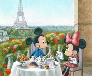 minnie, paris, and love image