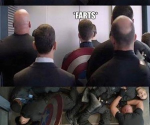 captain america, funny, and knock out image