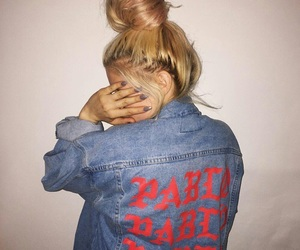girl, blonde, and pablo image