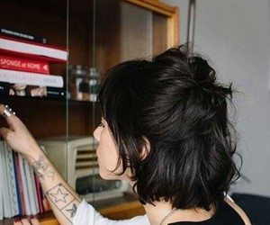 hair, tattoo, and curto image