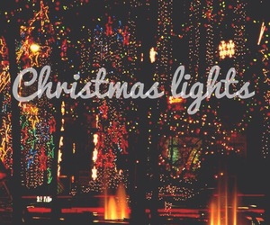 christmas, lights, and cold image
