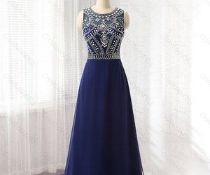 beaded, chiffon, and long dress image