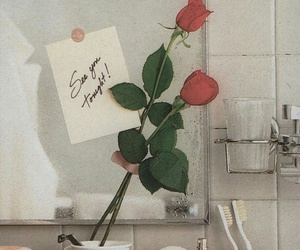 rose, flowers, and tonight image