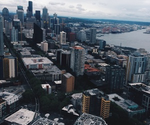 city, downtown, and seattle image