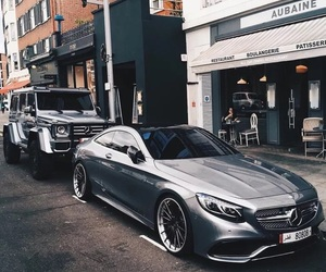 car, mercedes, and grey image