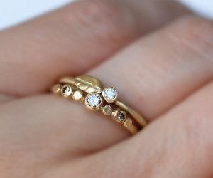 diamond ring, etsy, and brown diamond image
