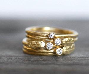botanical, etsy, and unique diamond ring image