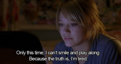 Hilary Duff, tired, and quotes image