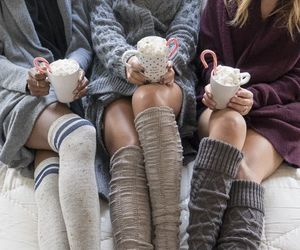 friends, socks, and coffee image