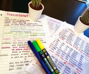 france, notes, and school image