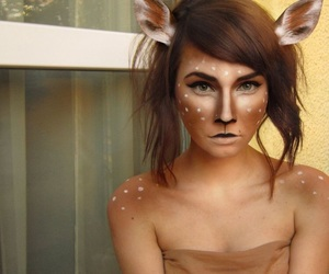 awesome, brunette, and deer image