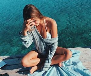 beach, verão, and fashion image