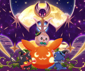 pokemon, litten, and rowlet image