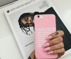 pink, nails, and Drake image