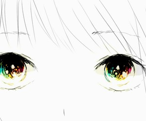 anime girl, eyes, and illustration image