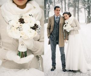 wedding, winter, and winter wedding image